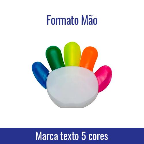Marca texto 5 cores formato Mão - Ref 91934 | Não sublimável, aceita transfer