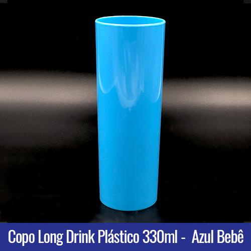 COPO PLASTICO LONG DRINK AZUL BEBE LEITOSO
