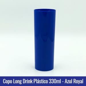 COPO PLASTICO LONG DRINK AZUL ROYAL LEITOSO