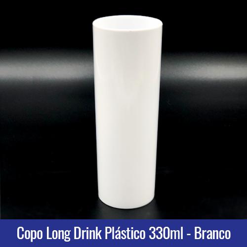COPO PLASTICO LONG DRINK BRANCO LEITOSO
