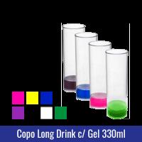 COPO LONG DRINK COM GEL COLORIDO