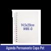 AGENDA PERMANENTE CAPA SUBLIMÁTICA PET - REF. 329. Wire-o Pre-Fechado - miolo 2 cores - 344 paginas 14,5x20cm