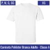 Camiseta Branca 100% Poliéster Adulto | Tamanho P ao XG - Ref. 94701 à 94705