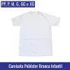 Camiseta Branca Infantil 100% Poliéster | Tamanho PP ao XG - Ref. 94714 à 94718