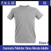 Camiseta Cinza Mescla 100% Poliéster Adulto | Tamanho P ao XG