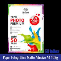 Papel Fotográfico GLOSSY ADESIVO A4 (BRILHANTE) 135g - Pacote c/ 50 folhas mundi globinho