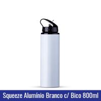SQUEEZE ALUMÍNIO BRANCO COM BICO - 800 ml (MODELO NOVO) - Ref. 1019137