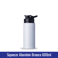 SQUEEZE ALUMÍNIO BRANCO - 600 ml (MODELO NOVO) - Ref. 1019138