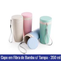 copo semi termico fibra de bambu