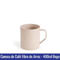 Caneca de Café FIBRA DE ARROZ - 400ml - BEGE - Ref. 1402