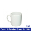 Caneca de Porcelana BRANCA 6oz 180ML (mini) - LIVE - Ref. 90990