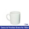 Caneca de Porcelana BRANCA 6oz 180ML (mini) - LIVE - Ref. 90990