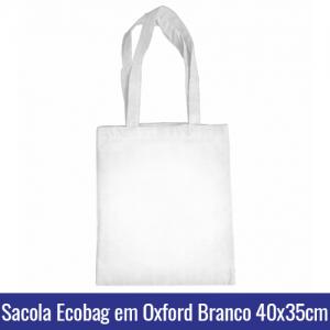 SACOLA ECOBAG C/ ALCA PARA SUBLIMACAO EM OXFORD 158G 40X35CM - REF. 10005594