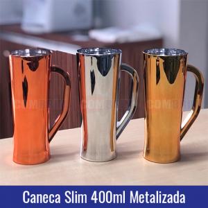 caneca-slim-metalizada-400ml dourada bronze prata chopp transfer