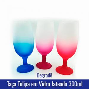 Taça TULIPA em Vidro JATEADO degradê 300ML - Ref. 92008