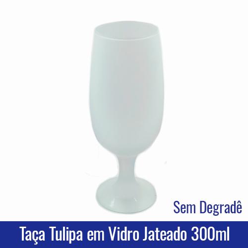 Taça TULIPA em Vidro JATEADO CRISTAL 300ML - Ref. 92007