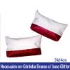 Necessaire em CÓRDOBA BRANCO com base GLITTER ROSA E VERMELHA 24x14cm - REF. 10005580