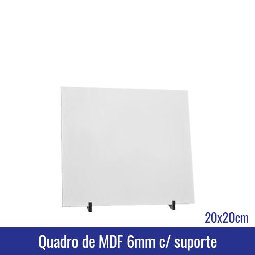 Quadro de MDF 6mm 20x20 c/suporte - Ref. 100951