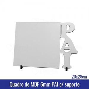 Quadro de MDF 6mm 20x28 PAI c/suporte - REF. 100958