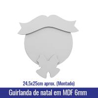 Guirlanda de natal em MDF 6mm (24,5x25cm Montado) - Ref. 100948