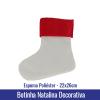 Botinha Natalina Decorativa em ESPUMA POLIÉSTER 22x26cm - Ref. 94815